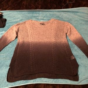 American Eagle Outfitters Tops - WARM BLACK & GRAY OMBRÉ COLOR SWEATER~NWT